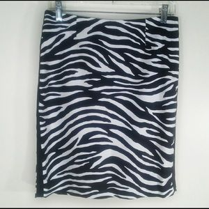 White House Black Market zebra skirt size 6